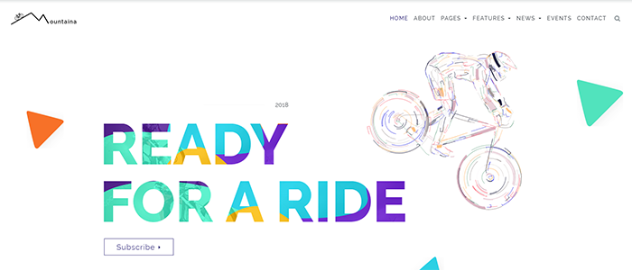 Mountaina Cycling WordPress theme