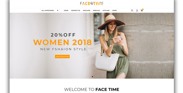Facetime - Fashion Store OpenCart Template