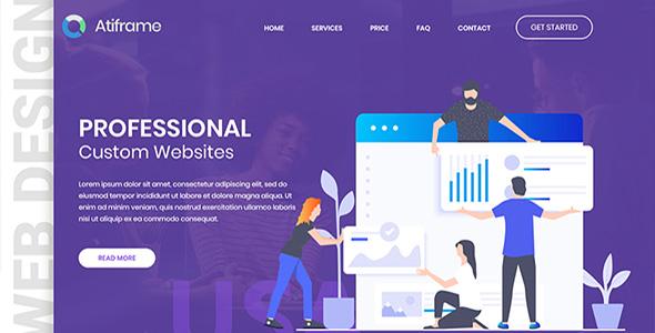 Atiframe - Web Design Company PSD Template