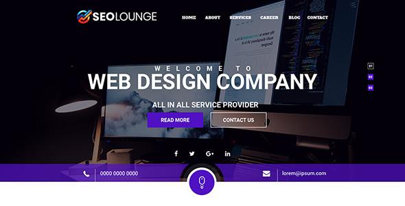 SEOLounge - SEO Company PSD Template