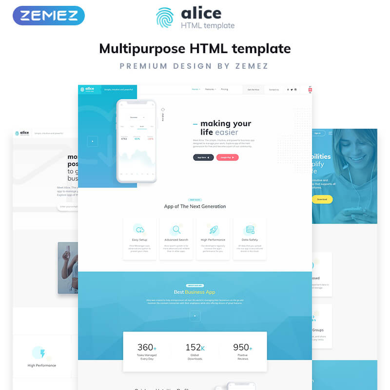 Application Multipurpose HTML5 Template