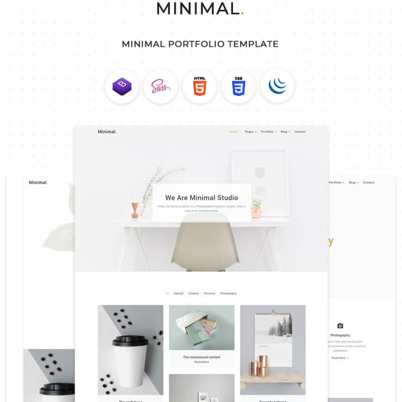 Minimal - Clean & Minimal Portfolio Website Template
