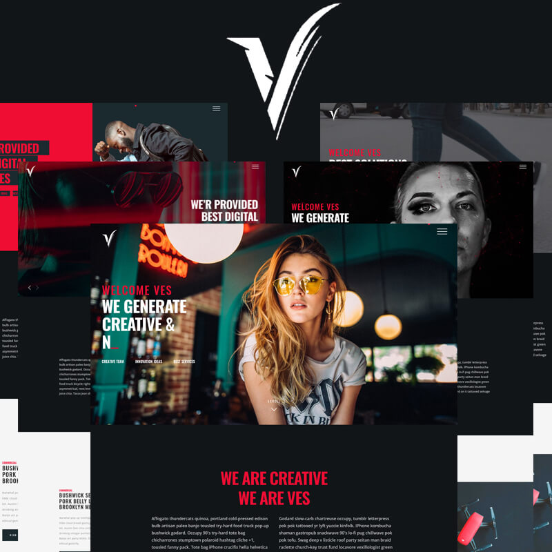 VES - Portfolio and Agency Bootstrap Website Template