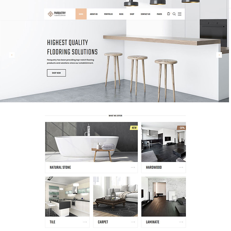 Flooring Multipage HTML Theme