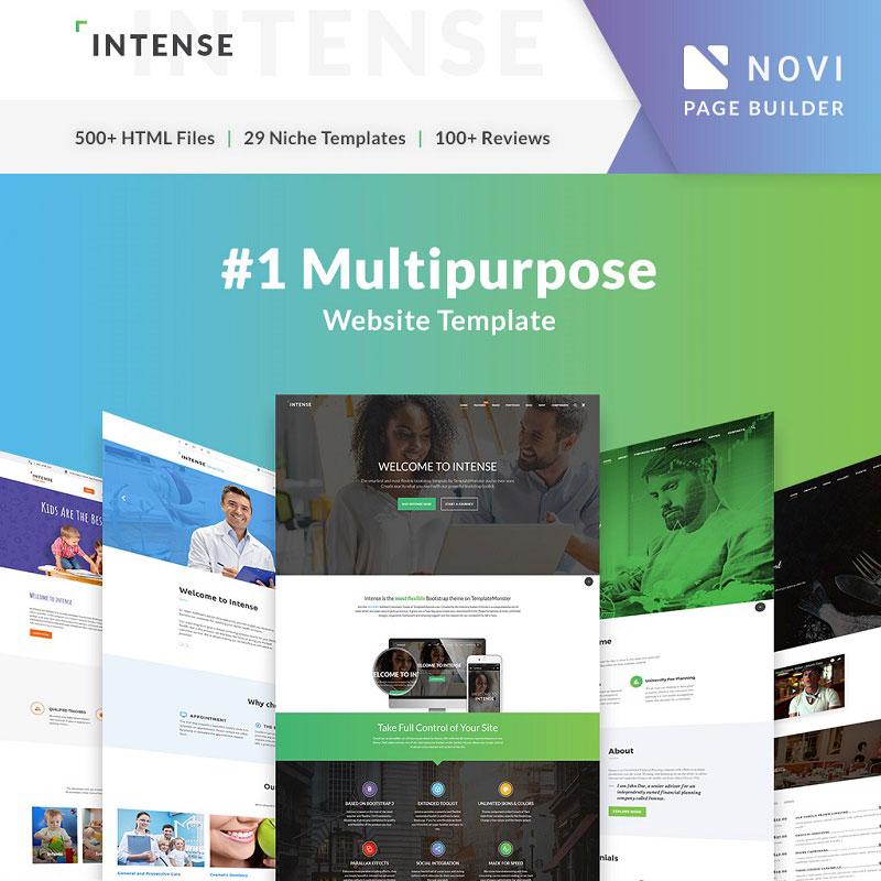 Multipurpose Website Template Intense