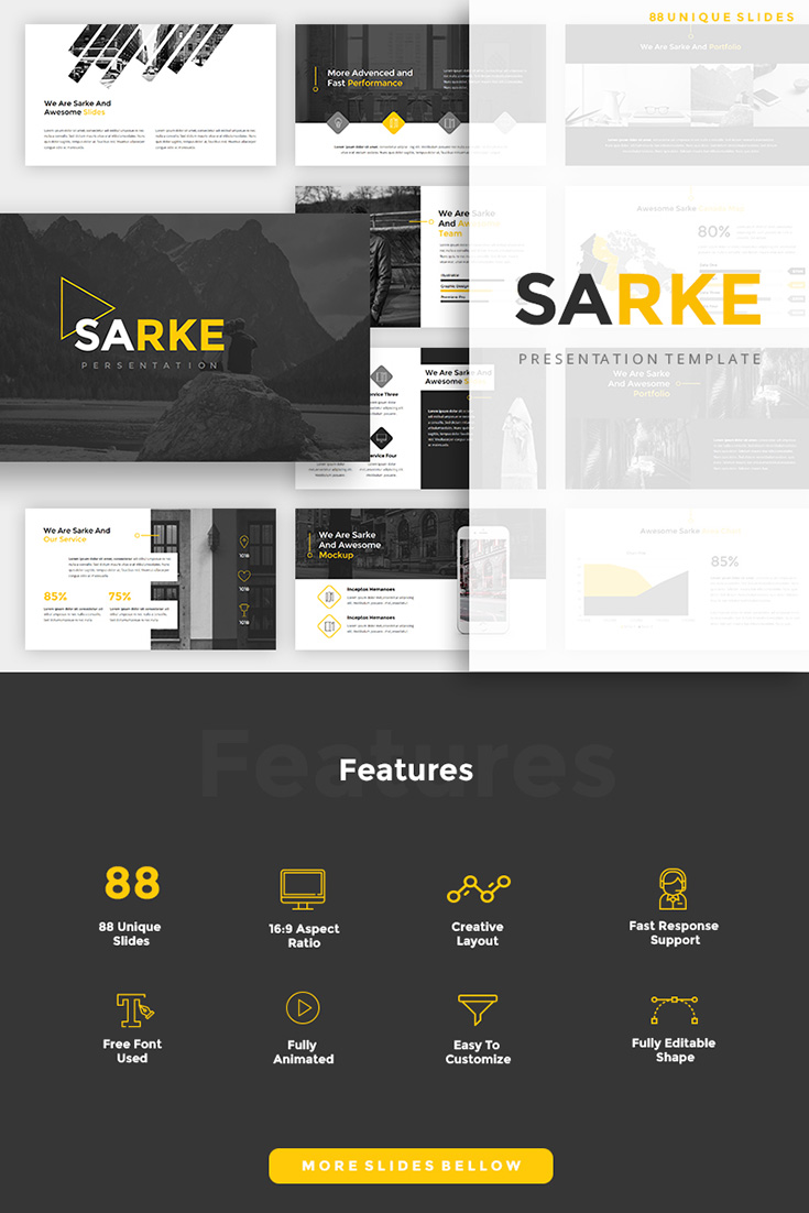 Sarke - Creative PowerPoint Template