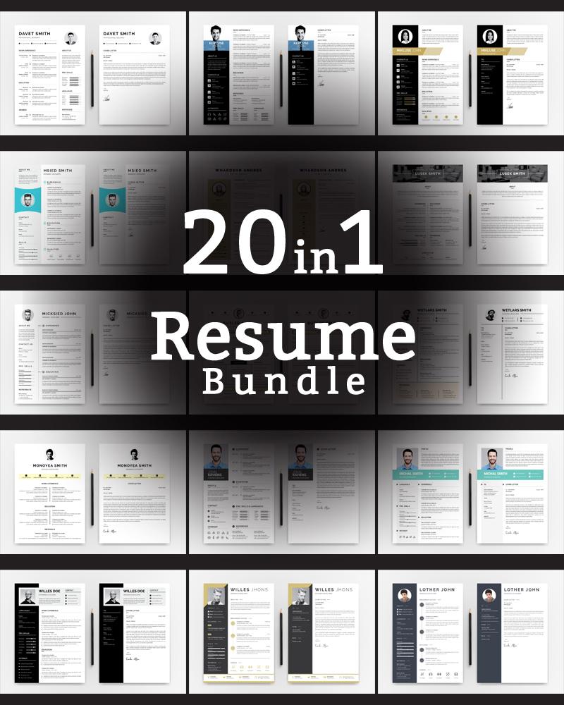 Word Bundle Resume Template