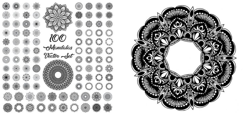 Mandalas Vector Set