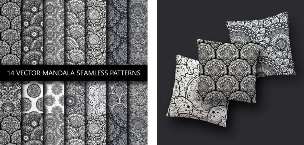 Black and White Mandala Patterns