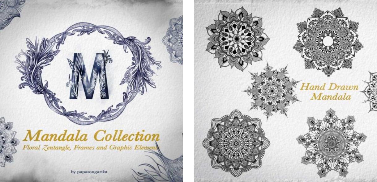 Mandala Illustration. Bundle Collection