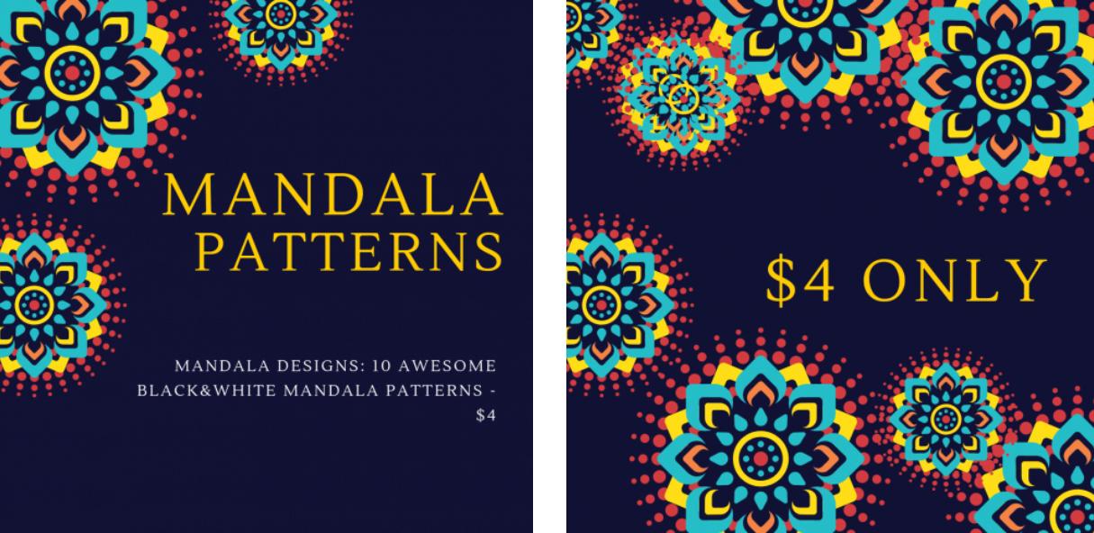 Awesome Black and White Mandala Patterns