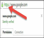 https icon example in address bar