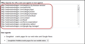 pasted URLs in textbox