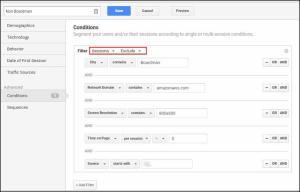 custom segment excluding data