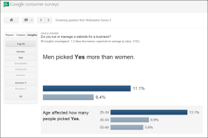 example of survey insights