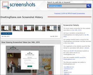 website snapshot for One Kings Lane