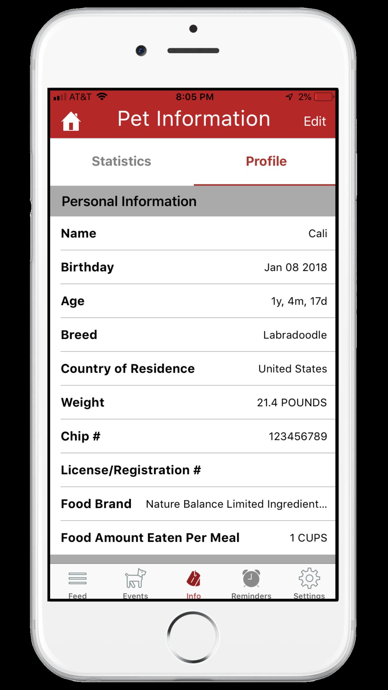 Features screenshot