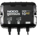 NOCO Genius 12v 24v 20 Amp 2-Bank Waterproof Marine On-Board Battery Charger