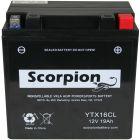 YT16CL Scorpion 12v 270 CCA AGM Watercraft & ATV Battery