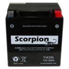 YIX30L Scorpion 12v 400 CCA AGM Power Sport & Motorcycle Battery