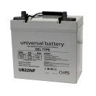 Universal 12v 55 AH Deep Cycle Sealed Gel Battery UB22NF-47605