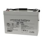 Universal 12v 90 AH Deep Cycle Sealed Gel Battery UB27-47608