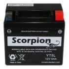 YT5L-BS Scorpion 12v 70 CCA AGM ATV & Motorcycle Battery