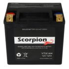 hYTX14H Scorpion 12v 240 CCA Harley HVT-8 AGM Motorcycle Battery