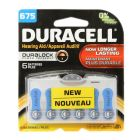 Duracell 675 Hearing Aid Battery with EasyTab 6 Pack - DA675B6ZM10