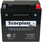 YT16CL Scorpion 12v 270 CCA AGM Watercraft & ATV Battery
