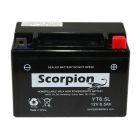 YT6.5L Scorpion 12v 80 CCA AGM Scooter & Motorcycle Battery