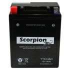 YTX14AH-BS Scorpion 12v 210 CCA AGM ATV & Motorcycle Battery