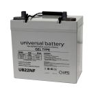 Universal 12v 55 AH Deep Cycle Sealed Gel Battery UB22NF-47605