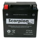 YTX14-BS Scorpion 12v 220 CCA Sealed AGM Motorcycle Battery