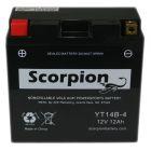 YT14B-4 Scorpion 12v 240 CCA Sealed AGM Motorcycle Battery