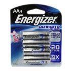 Energizer AA Ultimate Lithium 4 Pack - L91BP-4