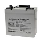 Universal Battery 12v 55 AH Deep Cycle Sealed Gel Battery UB22NF-47605