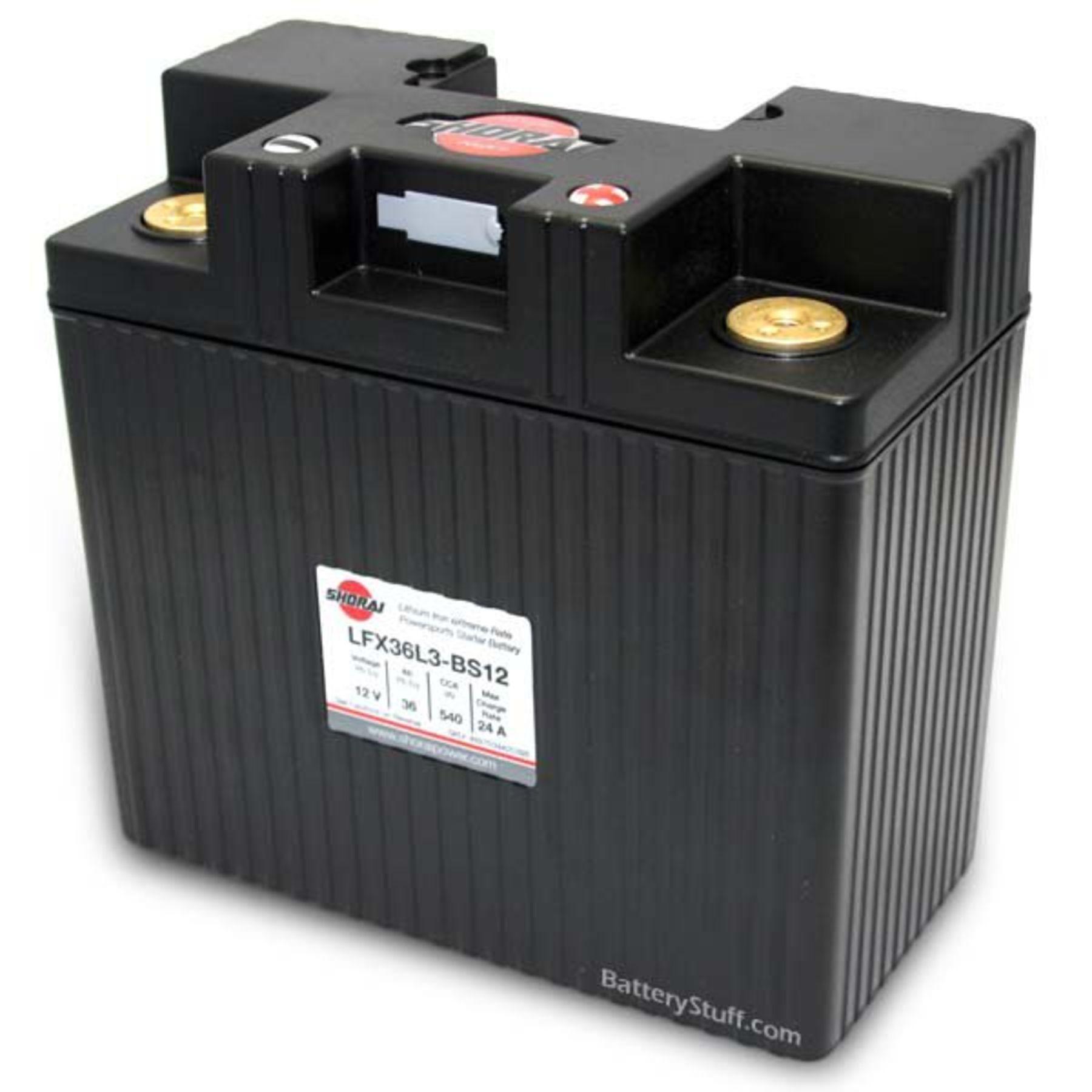 LiFePO4 Battery | 36ah 12v Lithium Motorcycle / ATV Batteries LFX36L3-BS12