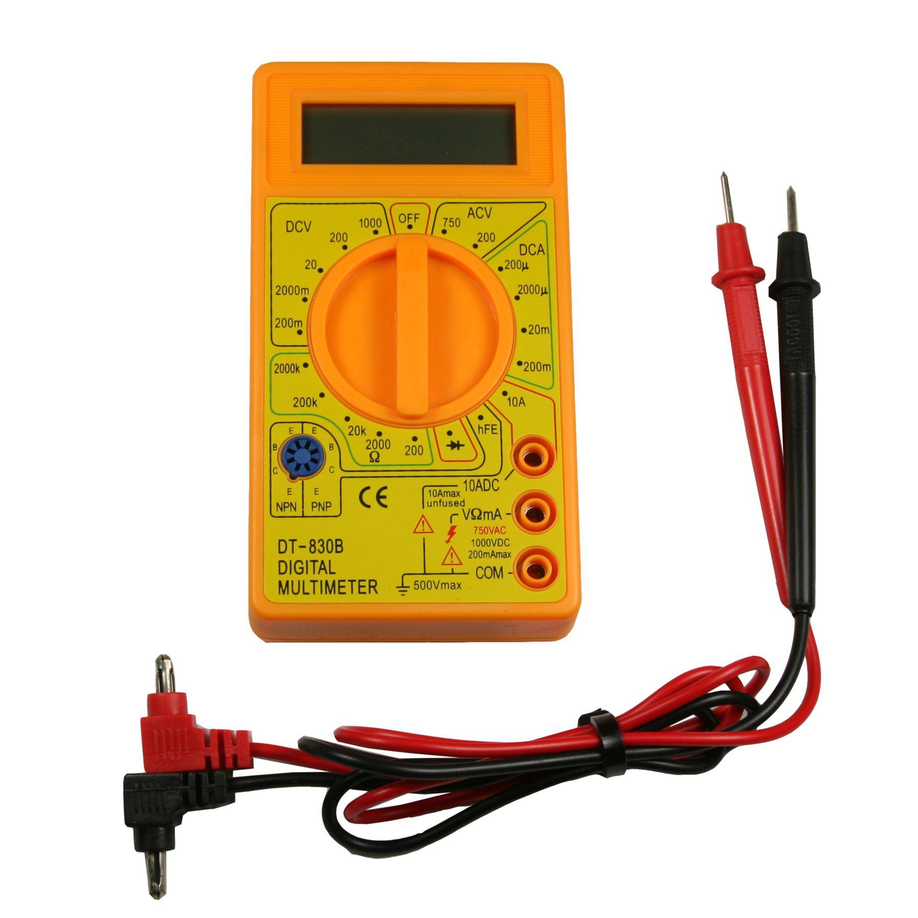 Ac Dc Digital Volt Meter Multimeter Dt 830b Continuity Tester Circuit Alarm Or