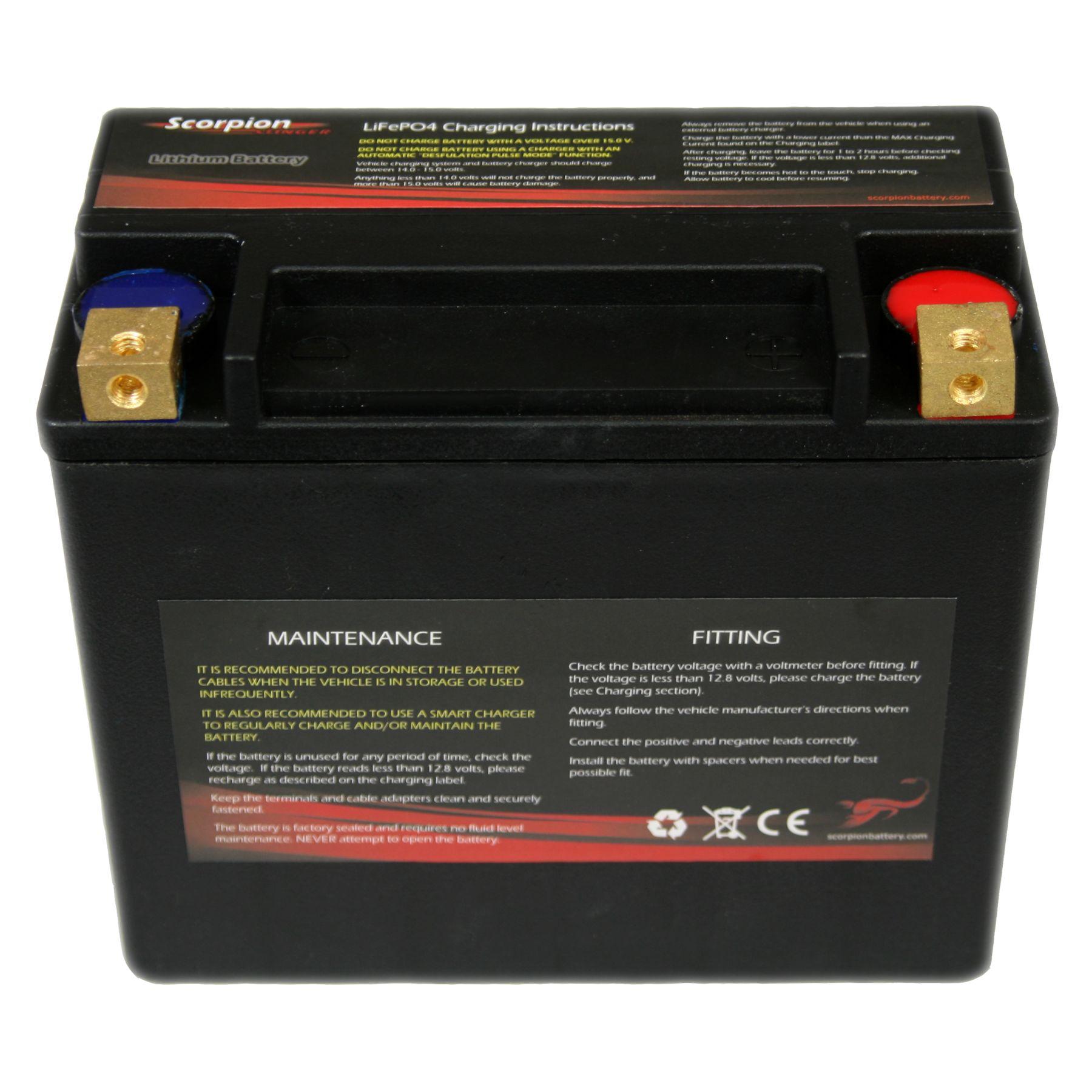 Sshvt 1 Fpp Scorpion Stinger Lithium Lifepo4 Hvt Harley Voltmeter Wiring Diagram Replacement Battery