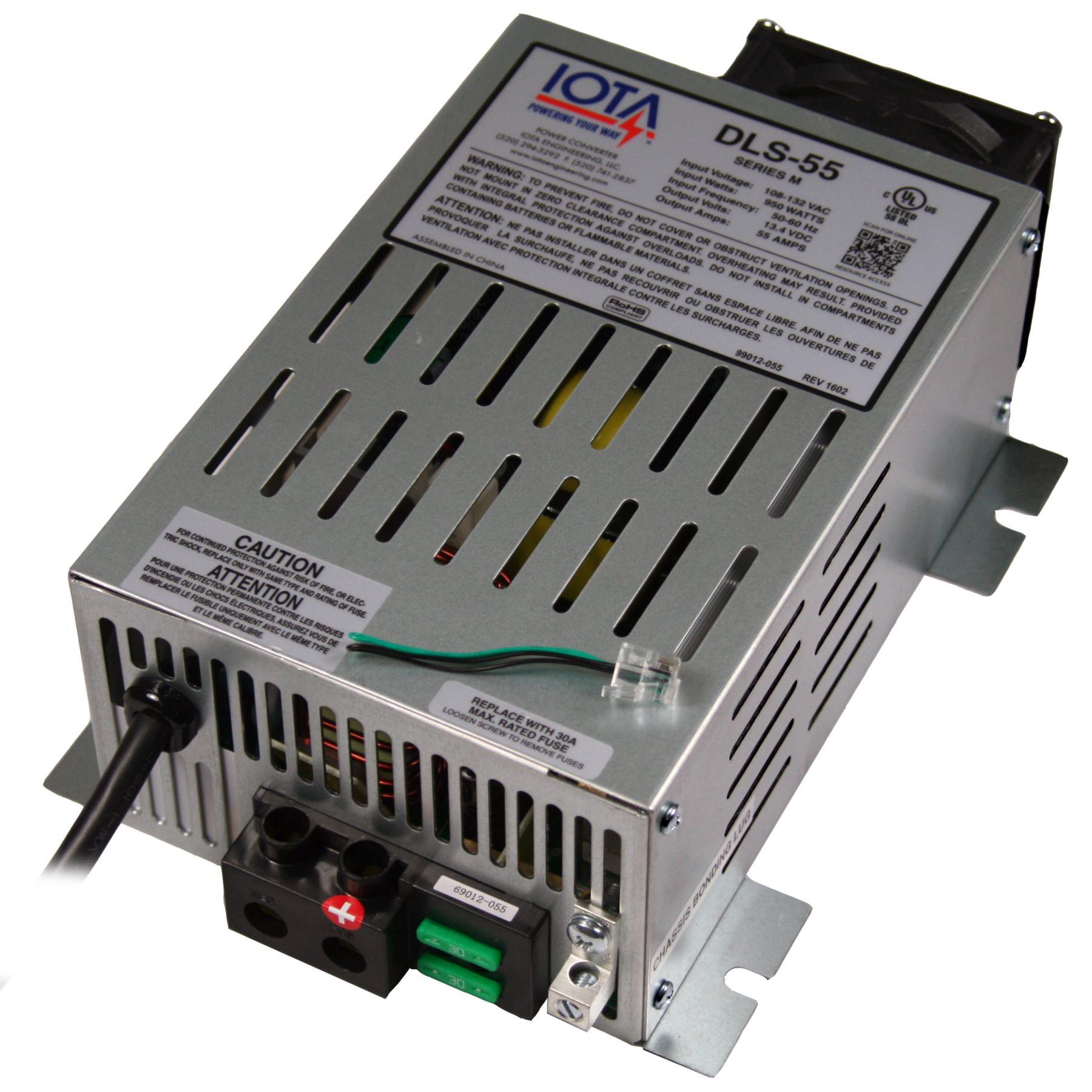 Dls 55 Iota 12v 55 Amp Power Converter Battery Charger