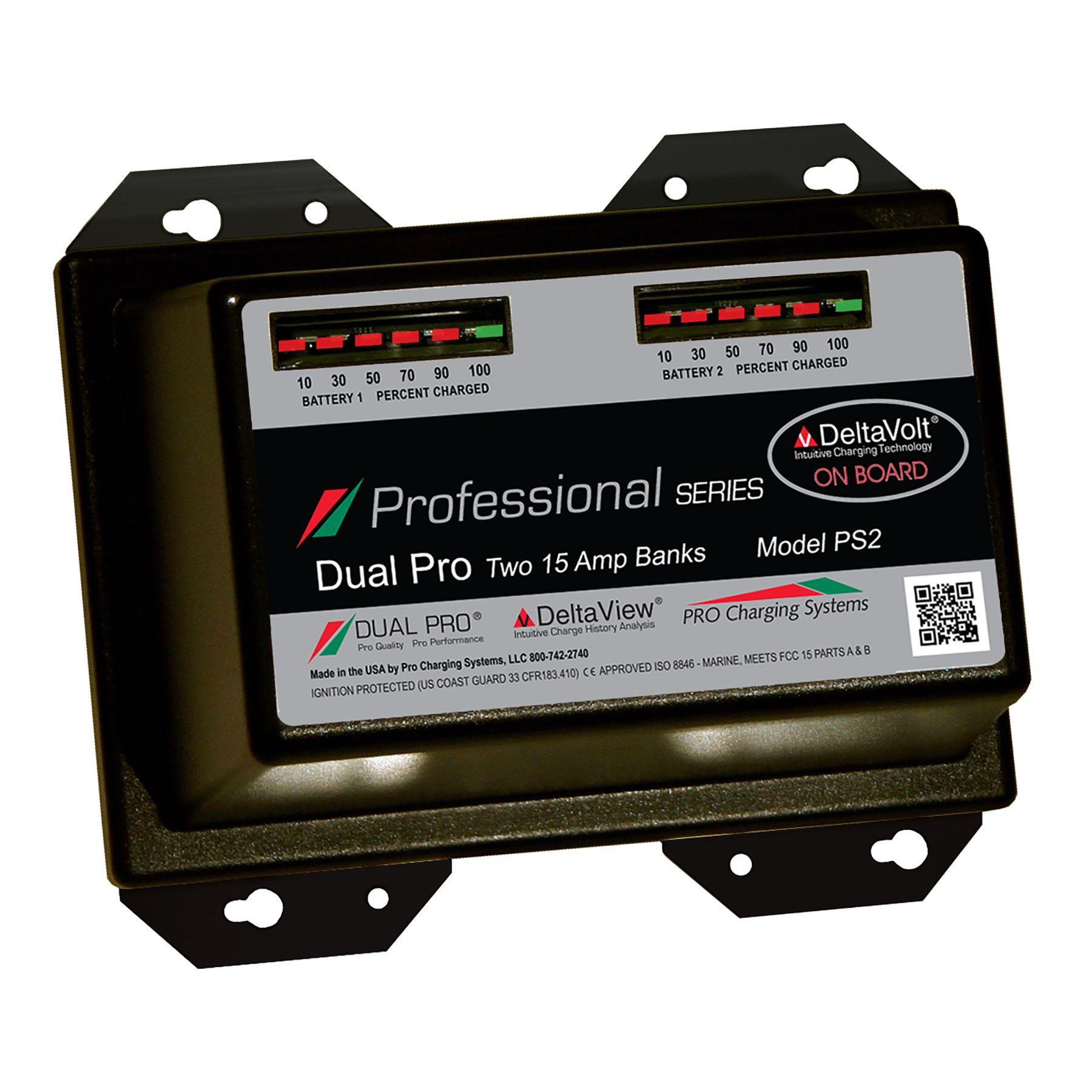 Ps2 Dual Pro 12v 24v 30 Amp 2 Bank Professional Series