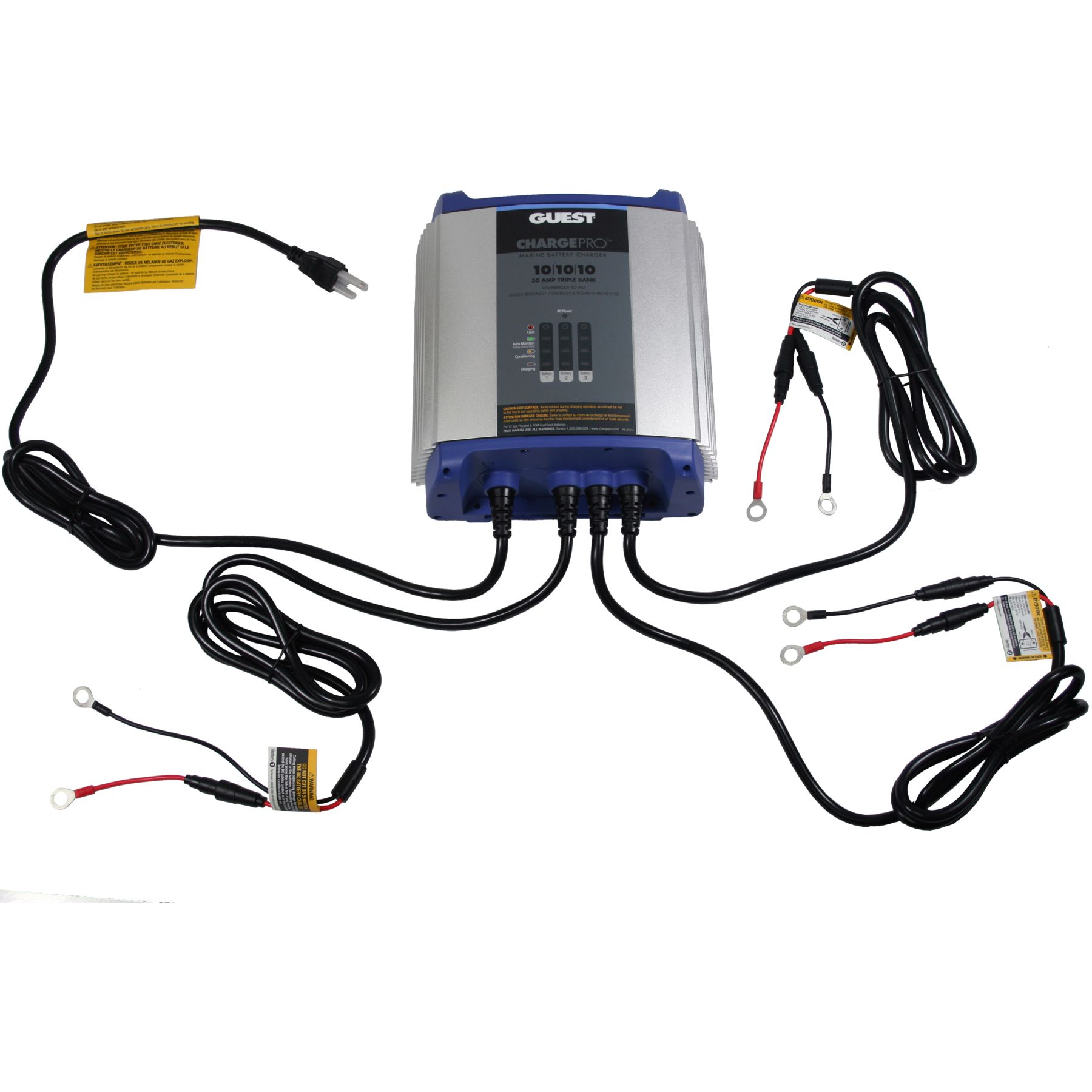 Excellent Guest 2731A 12V Chargepro 30 Amp 3 Bank On Board Charger Wiring 101 Ariotwise Assnl