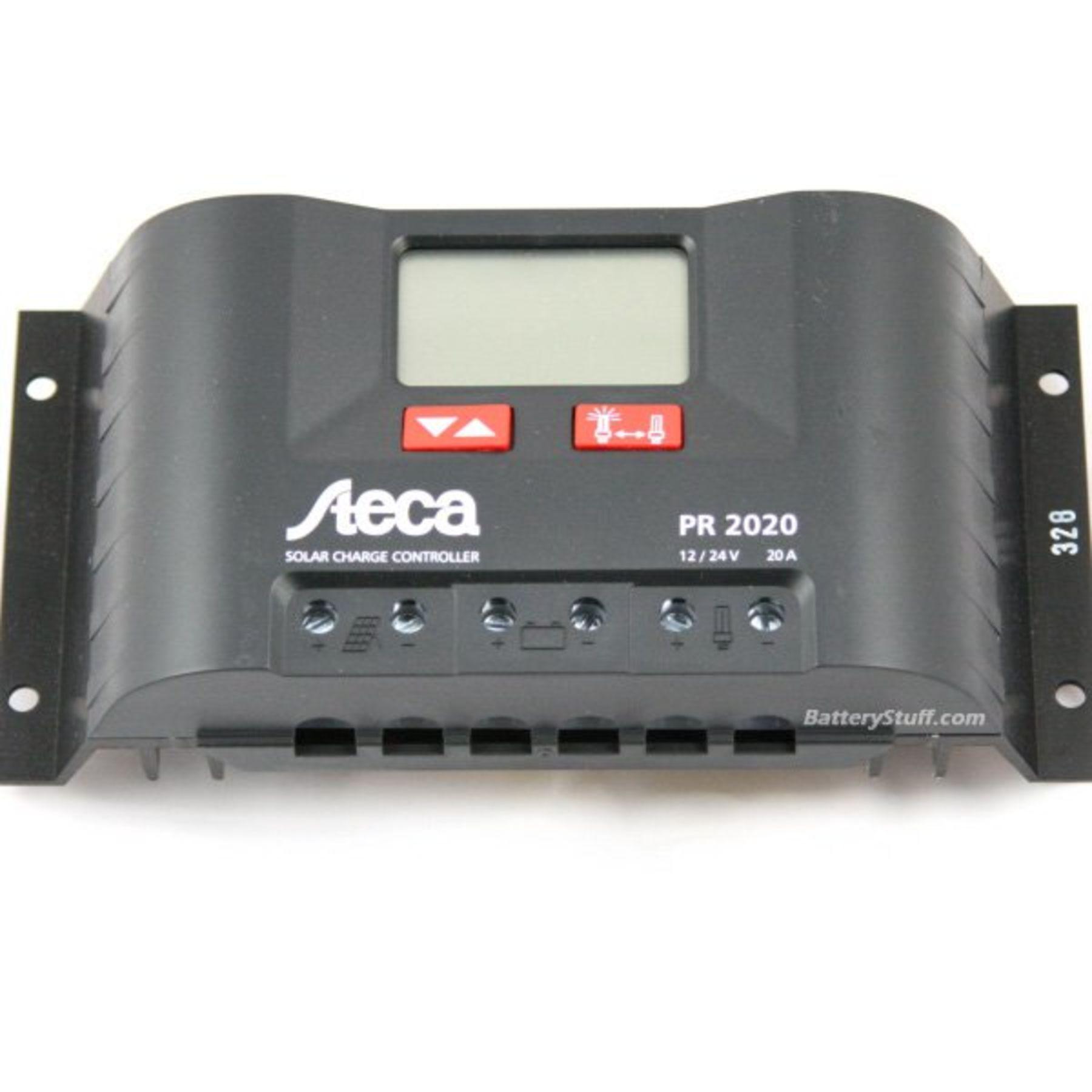 Samlex 12v 24v 20 Amp Steca Solar Charge Controller With Lcd Display Pr2020