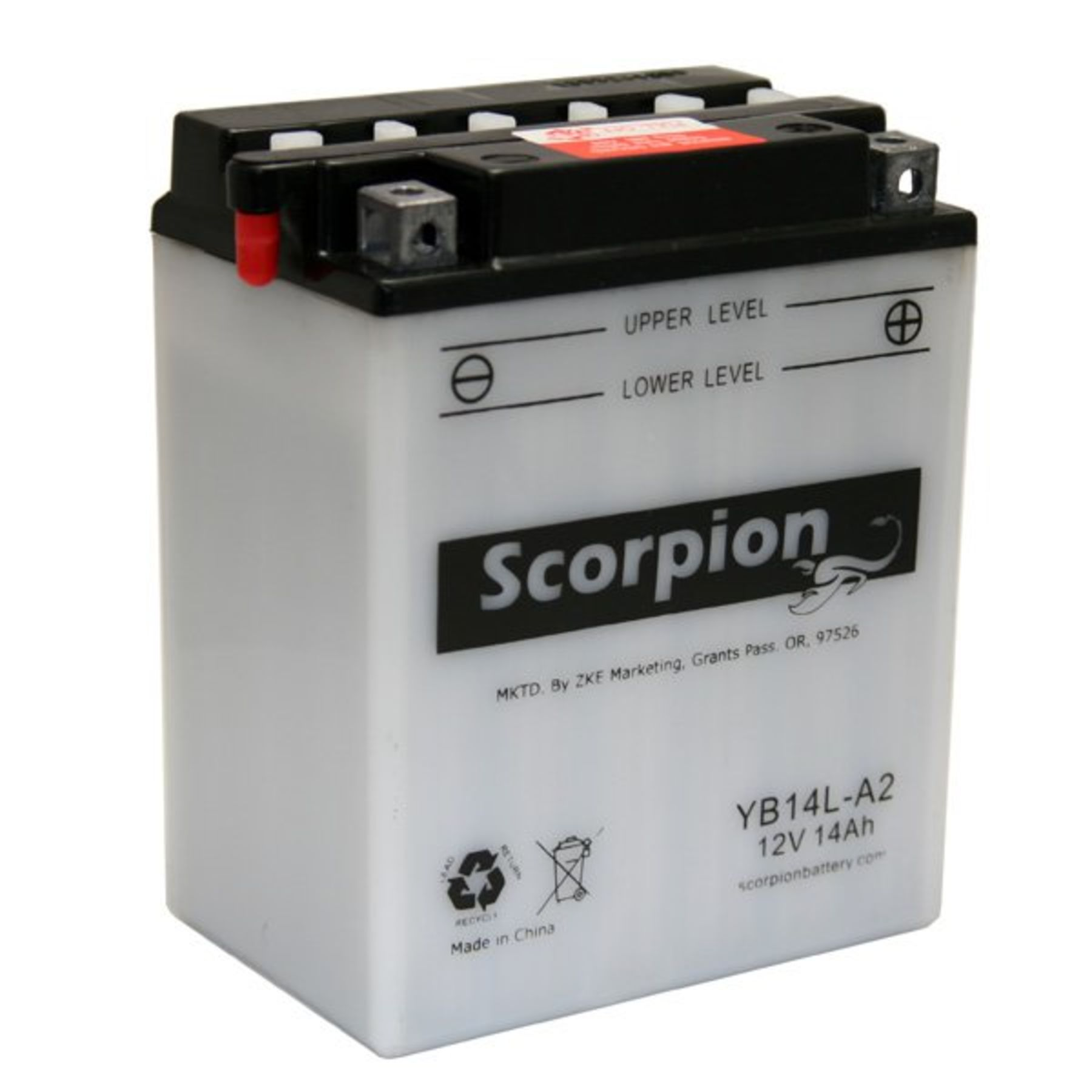 yb14l a2 battery scorpion 12 volt motorcycle batteries. Black Bedroom Furniture Sets. Home Design Ideas
