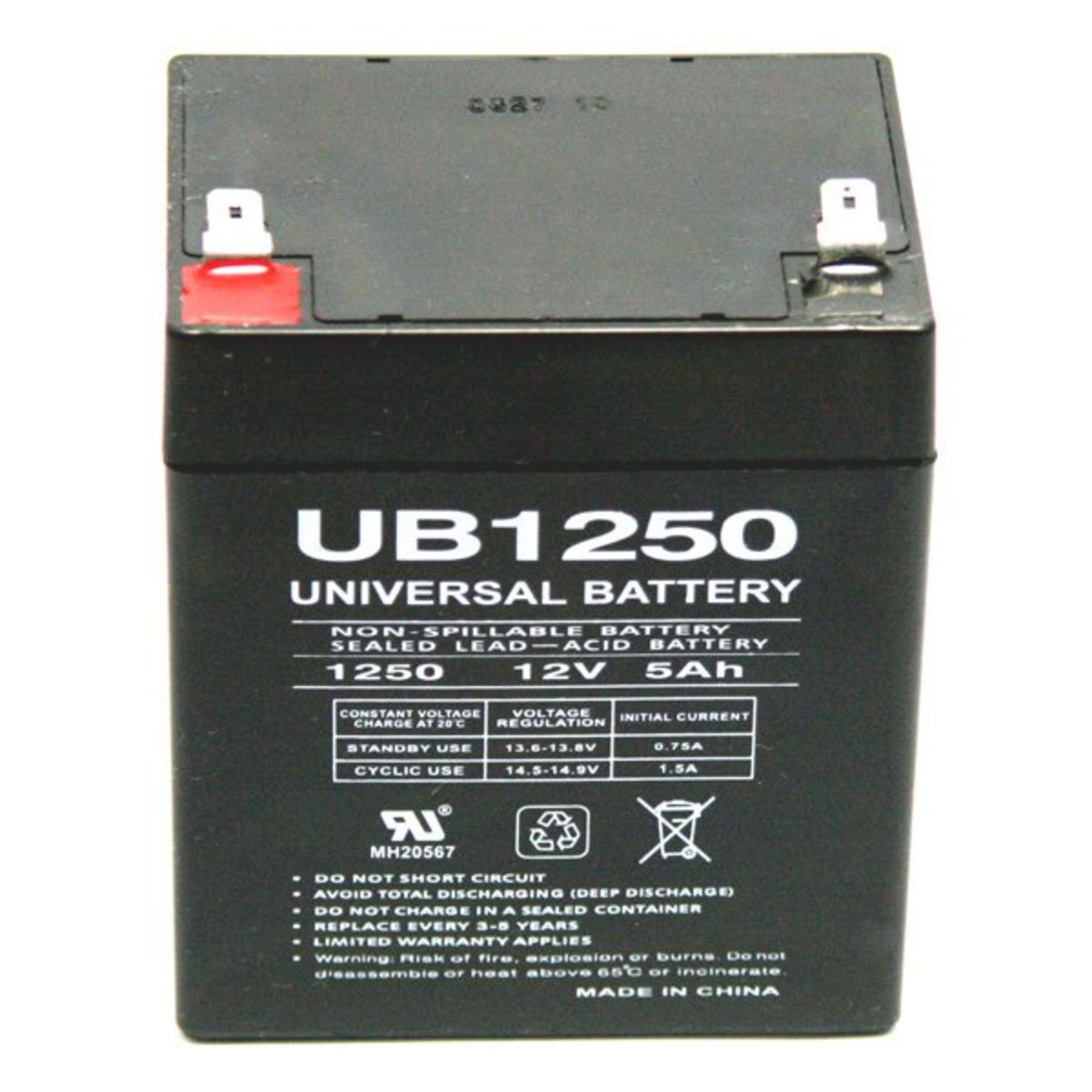 Universal 12 V 5 Amp Hour Battery