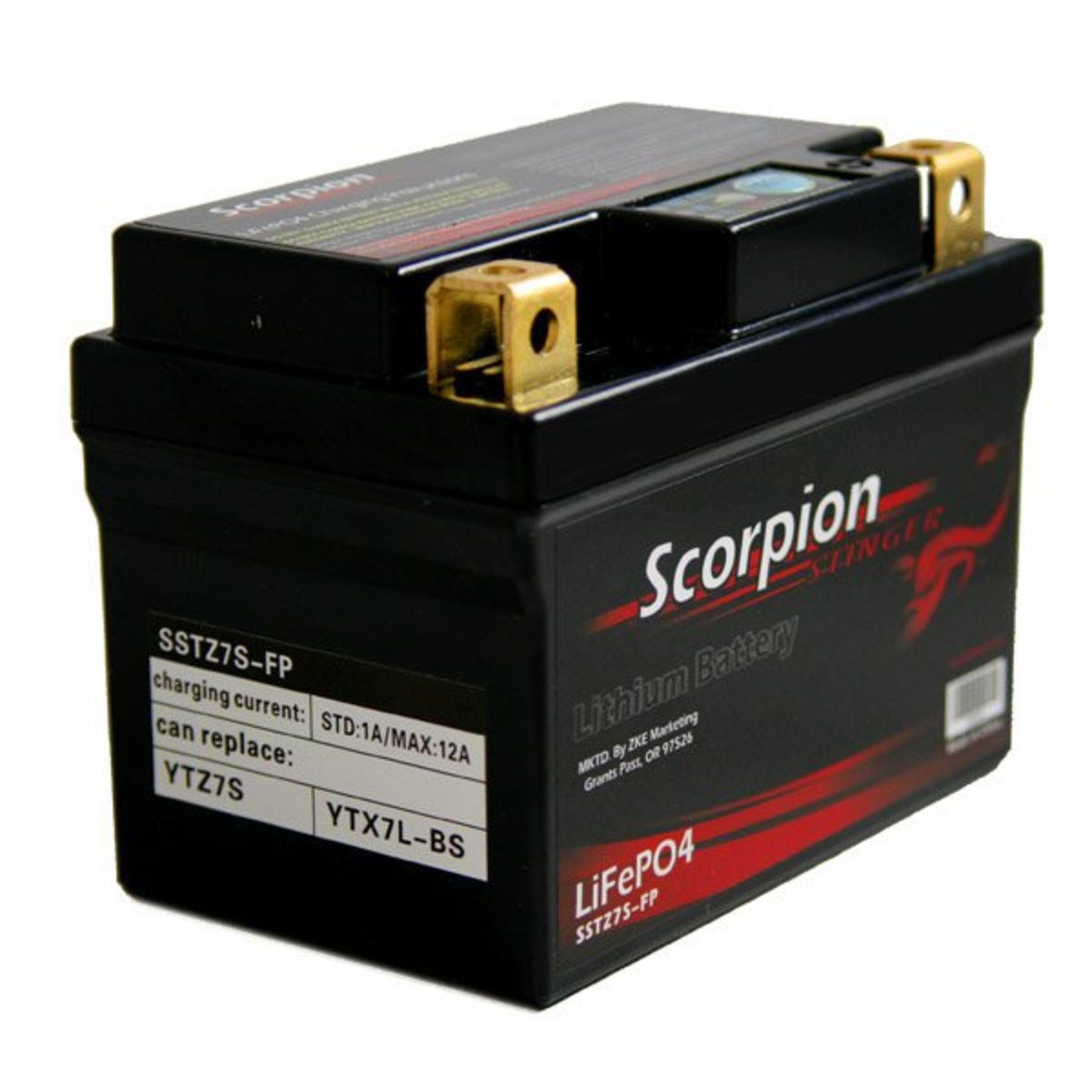 sstz7s-fp scorpion stinger 12v 219 cca lifepo4 extreme high output