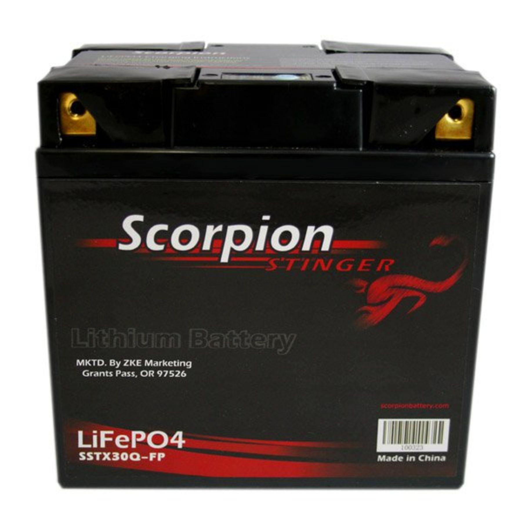 SSTX30Q-FP Scorpion Stinger 12v 540 CCA LiFePo4 Quad Terminal Extreme High  Output Battery