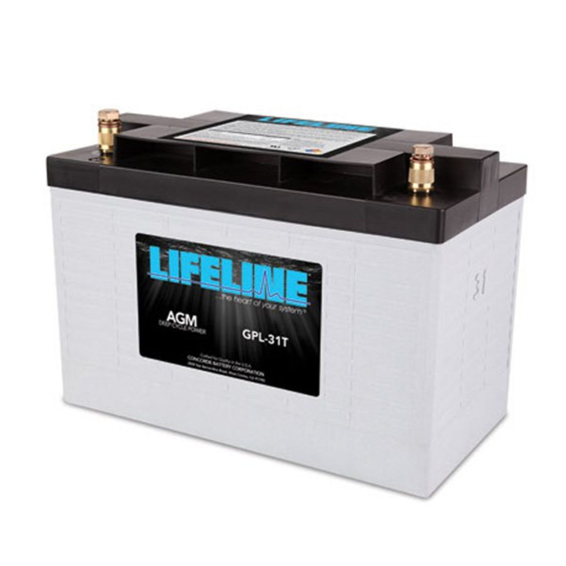 Lifeline 12v 125 Ah Deep Cycle Sealed Agm Battery Gpl 31xt