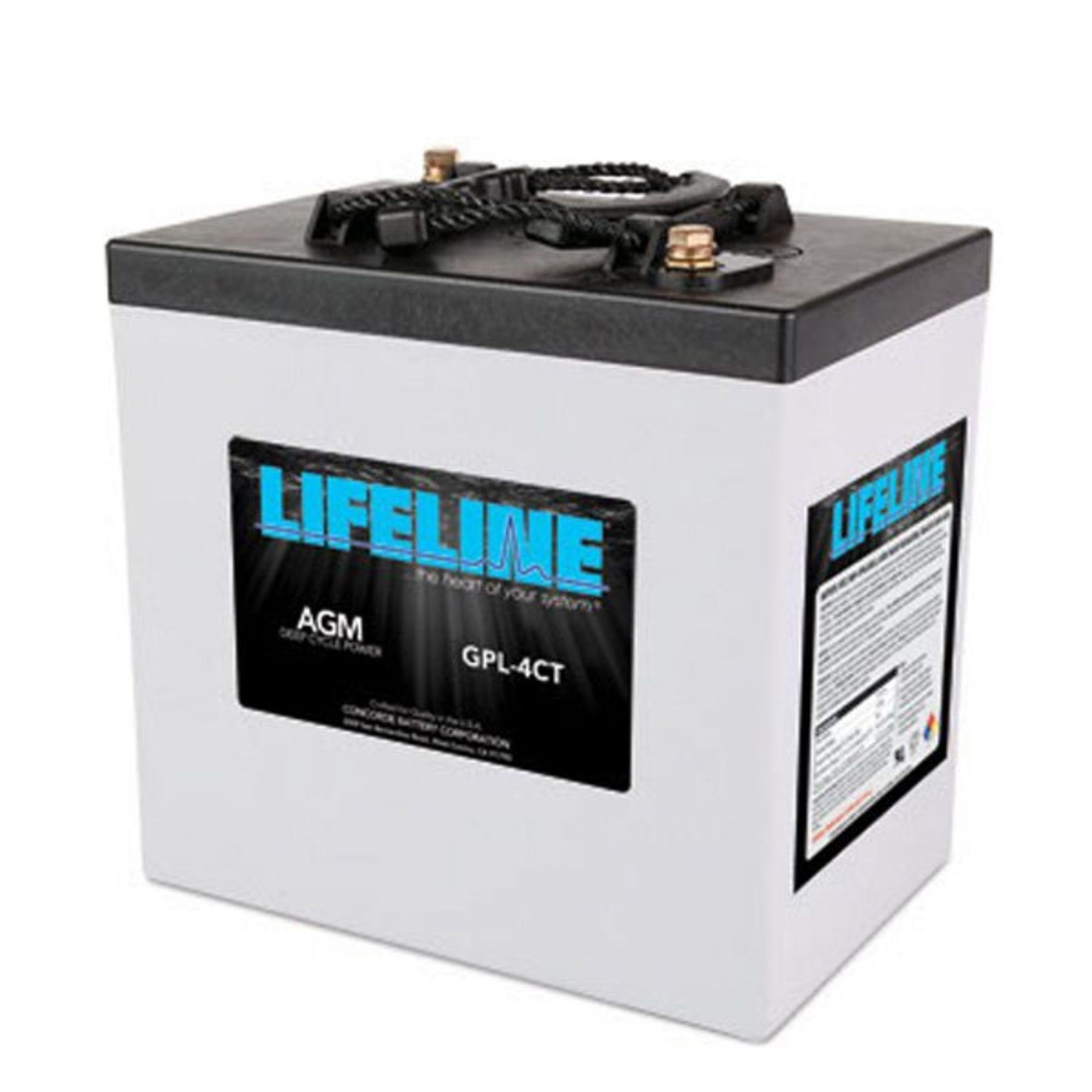 lifeline 6v 220 ah deep cycle sealed agm battery gpl 4ct. Black Bedroom Furniture Sets. Home Design Ideas